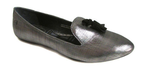 Born Women's Spirit Acciaio Metallic Flat Shoes US