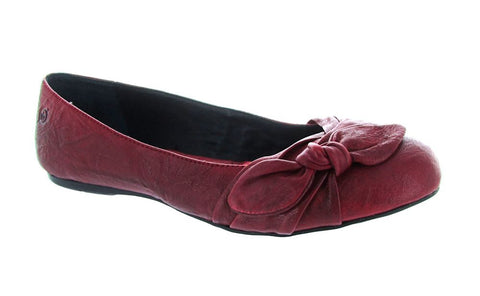 Born Women's Red Molly Ballet Flat US