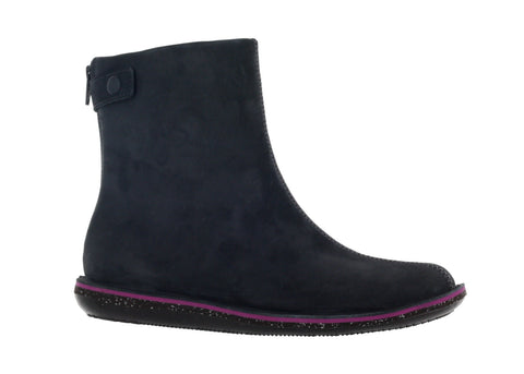 Camper Women's Grey/Violet Beetle Ankle Boot US 8