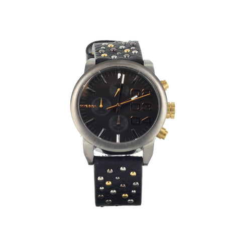 Diesel Women's Flare Black Leather Watch