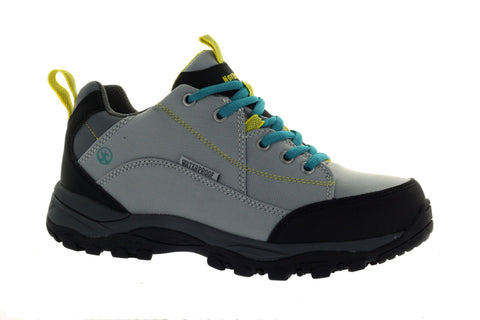 Northside Women's Grey/Teal Delaney Hiking Sneaker US