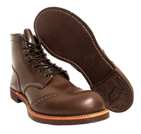 Red Wing Men's Brown Brogue Ranger Combat Boots US