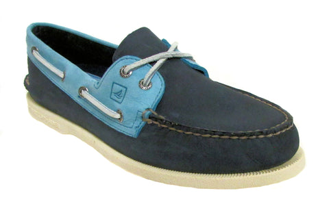 Sperry Men's Navy/Blue A/O 2-Eye Boat Shoe US 9