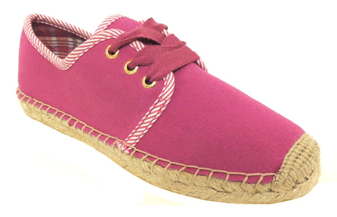 Sperry Top-Sider Women's Beatrix Pink Linen Casual Lace-Up Sneaker US 6