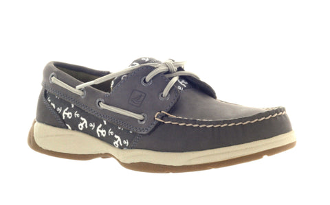Sperry Top-Sider Women's Intrepid Anchors Graphite Casual Loafer US 5