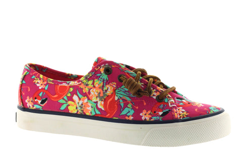 Sperry Women's Seacoast Bright Pink Flamingo Floral Sneaker US