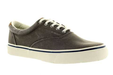 Sperry Men's Striper CVO Chocolate Salt Washed Twill Sneaker US