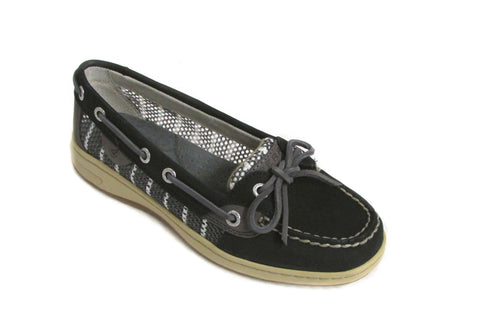 Sperry Women's Angelfish Breton Stripe Mesh Boat Shoe US