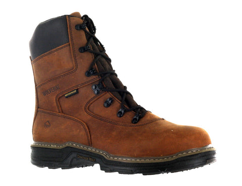 "Wolverine Men's Brown 8"" Marauder Contour Welt ST EH Work Boot US 12"