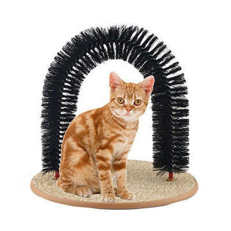 Vintage Plastic Bristles Purrfect Arch Cat Groomer Massager - Pet26072020