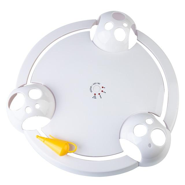 Electric Cat Toy Smart Teasing Cat Stick Crazy Game Spinning Turntable - Pet26072020