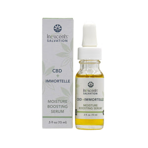 CBD + Immortelle Moisture Boosting Serum .5oz.