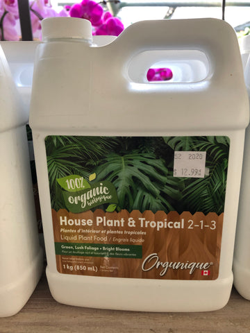 Organic Houseplant Fertilizer 2-1-3
