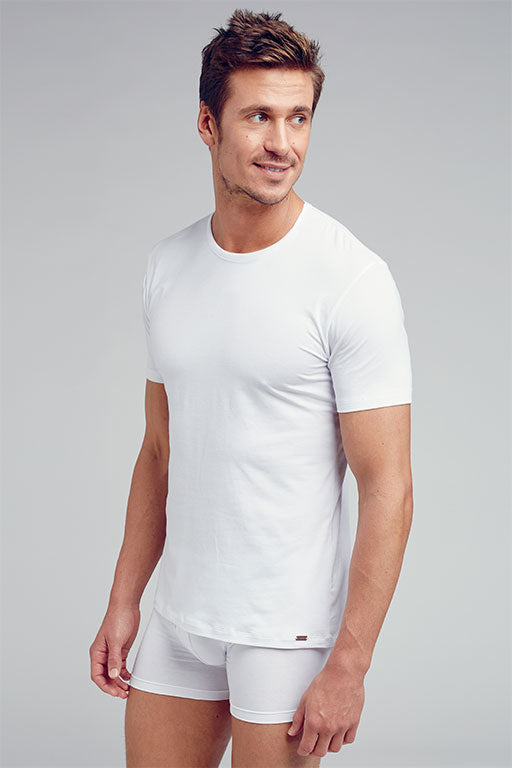 Jockey® Deep Neck White Undershirt