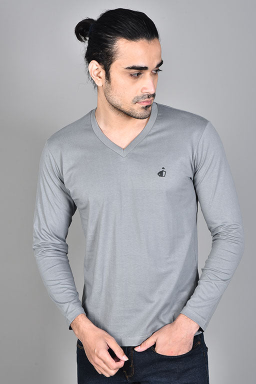 Jockey® Cotton Full Sleeves Quite V-Neck Shirt