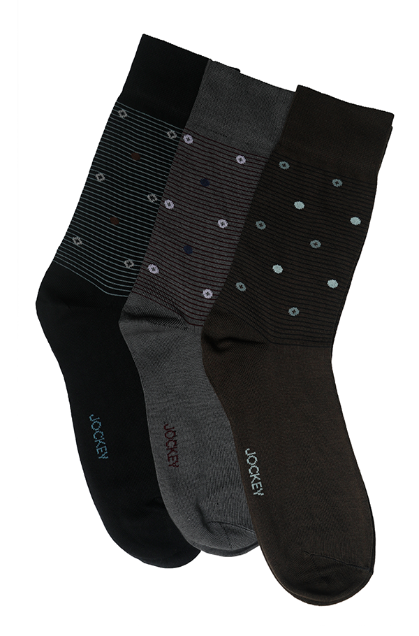 Jockey® Formal Dot Stripe Socks 3 Pack