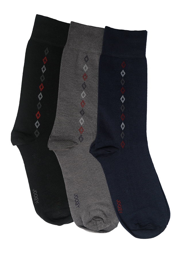 Jockey® Premium Formal Diamond Socks 3 Pack