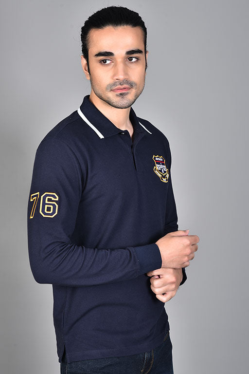 Jockey® Relax Fit Navy Applique Polo Shirt