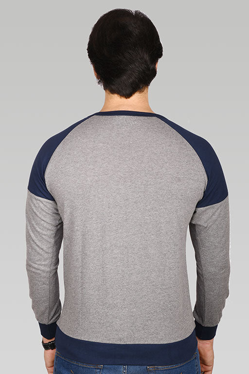 Jockey® Cotton Full Sleeves Dark Grey Crew Neck Shirt