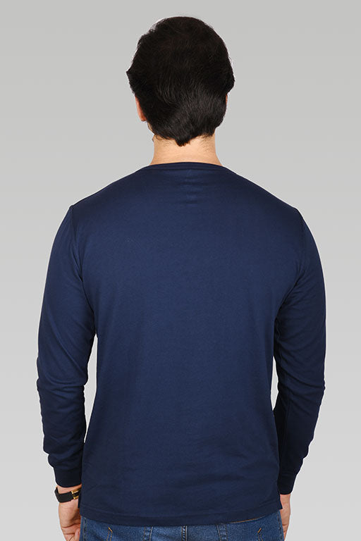 Jockey® Cotton Full Sleeves Dark Iris Henley Shirt