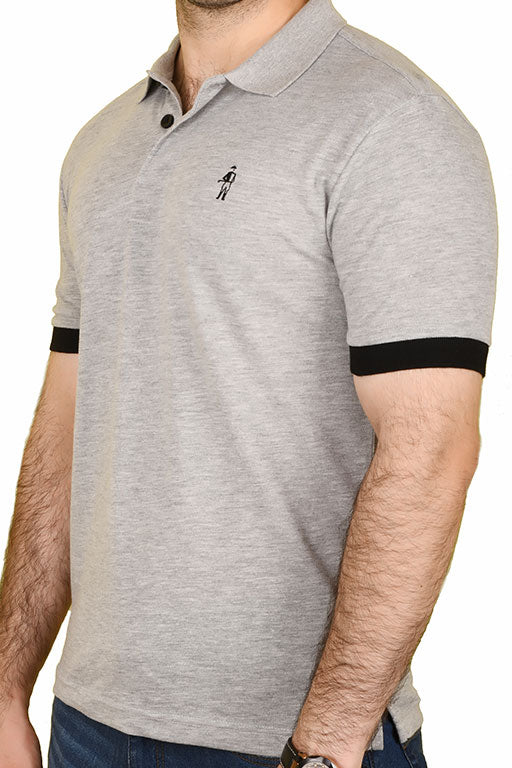 Jockey® Cotton Half Sleeves Grey Polo Shirt