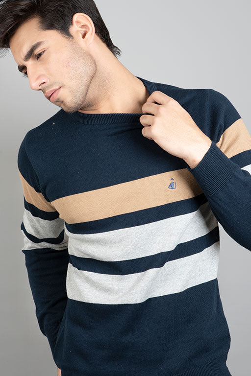 Jockey® Relaxed Fit Brown Stripe Sweater