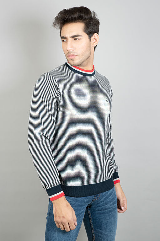 Jockey® Relaxed Fit Pinstripe Sweater