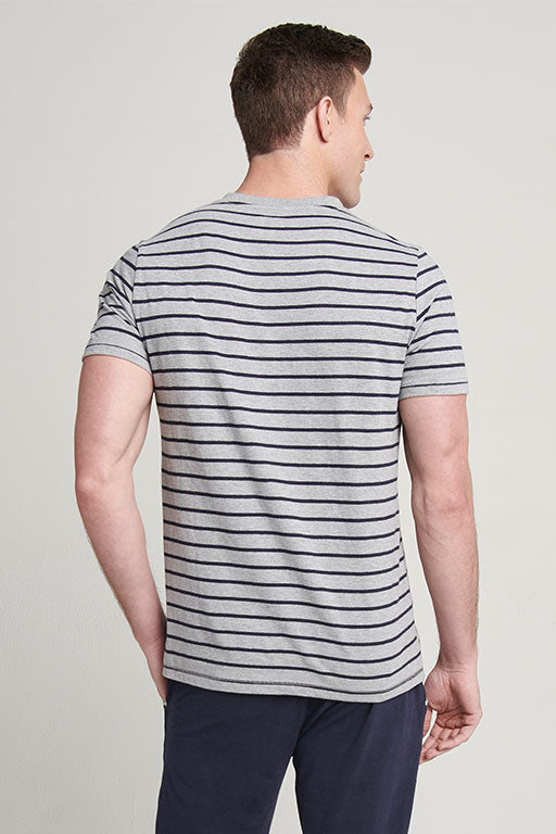 JOCKEY® HALF SLEEVES HENLEY YARN DYED SHIRT