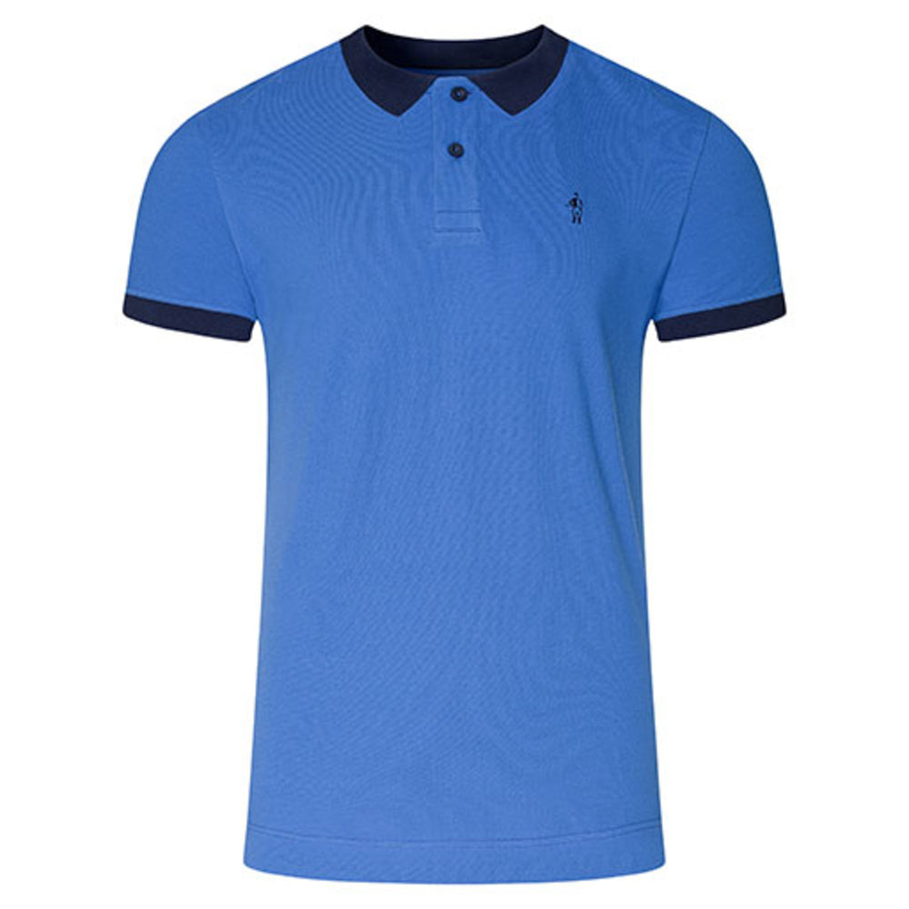 Jockey® Cotton Half Sleeves Electric Blue Polo Shirt