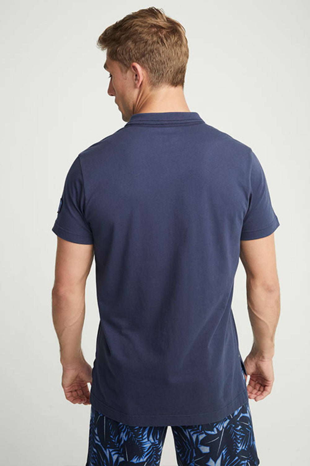 Jockey® Cotton Half Sleeves Dark Iris Henley Shirt