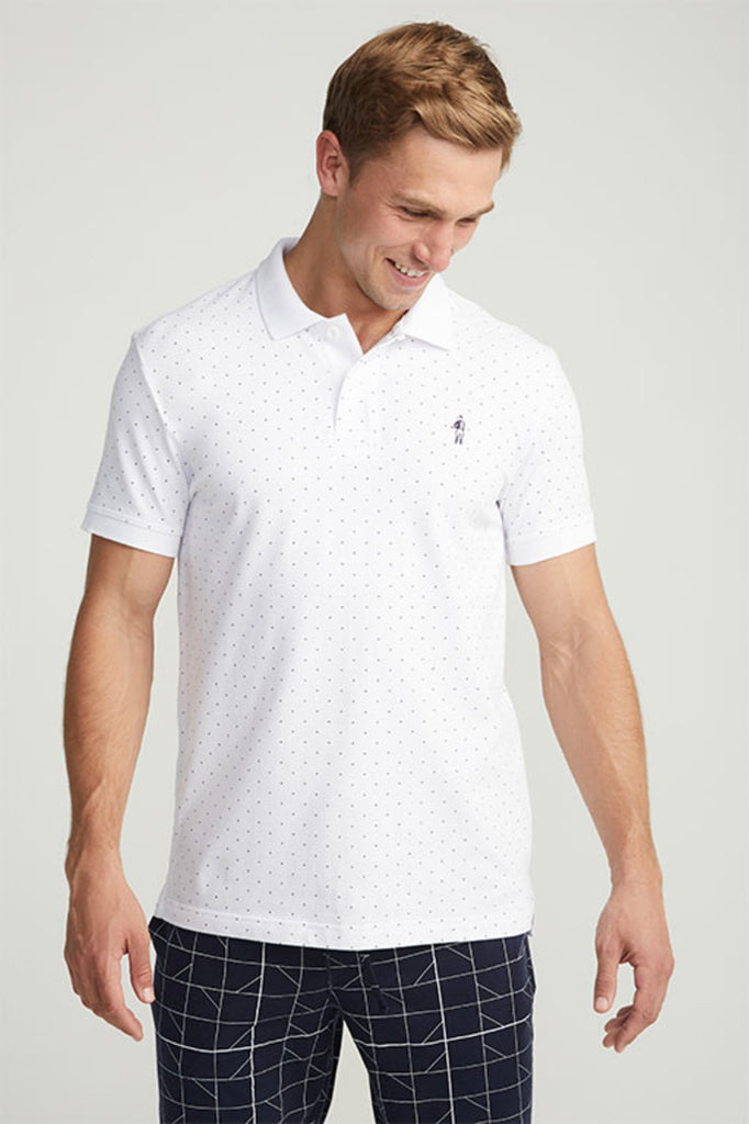 Jockey® Cotton Half Sleeves White Polo Shirt