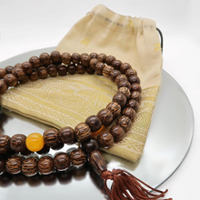 Load image into Gallery viewer, Polished Wood 108 Mala Beads