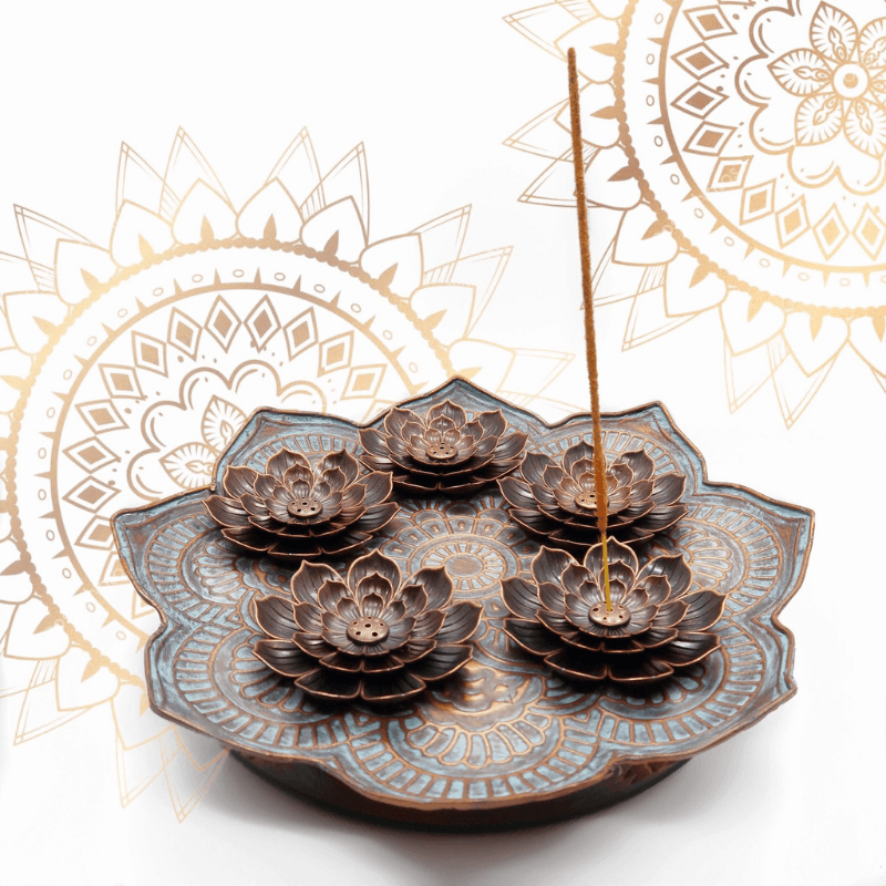 Bronze Lotus Love Incense Holder