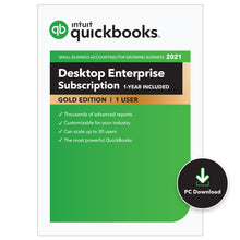 Load image into Gallery viewer, QuickBooks Enterprise Gold (Annual)