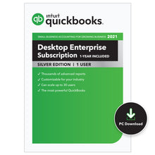 Load image into Gallery viewer, QuickBooks Enterprise Silver (Annual)
