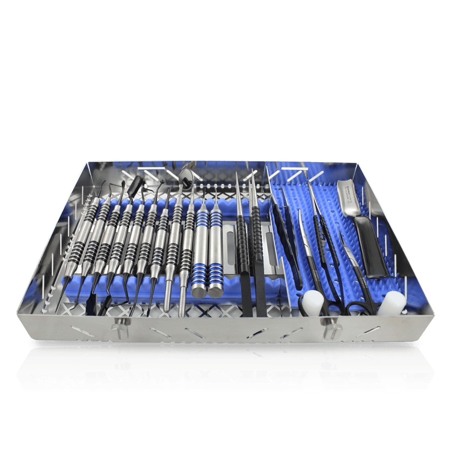 Implant Surgery Full Instruments Kit 18pc-Dr. Ziv Mazor-Black Titanium