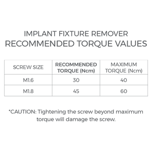 Implant Fixture Remover - IFR1618