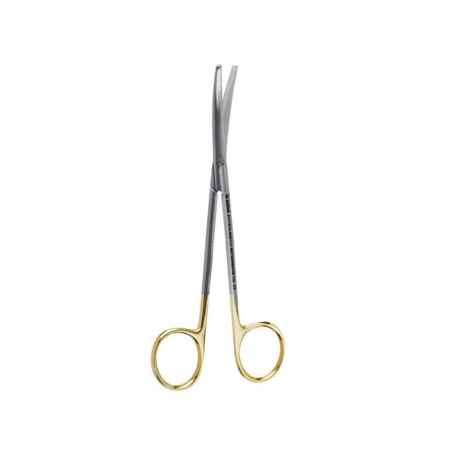 Surgical Gum Tissue Scissors Serrated T/C- Metzenbaum Curved 14.5Cm