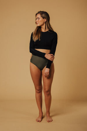 Denver Cropped Swimsuit Rash Top