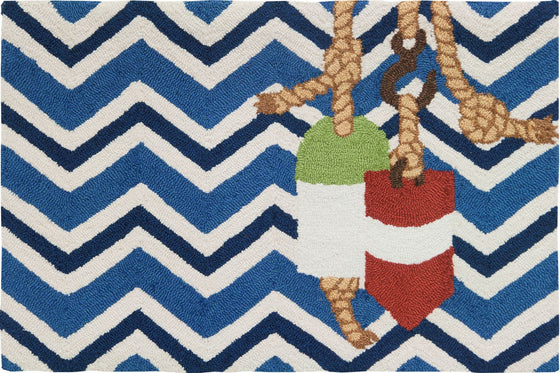 Chevron Buoys Accent Rug