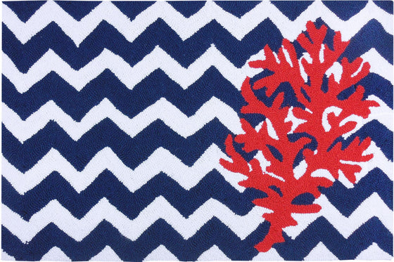 Chevron Coral Accent Rug - Premier Home & Gifts