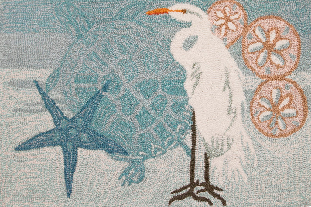 Coastal Egret Accent Rug - Premier Home & Gifts
