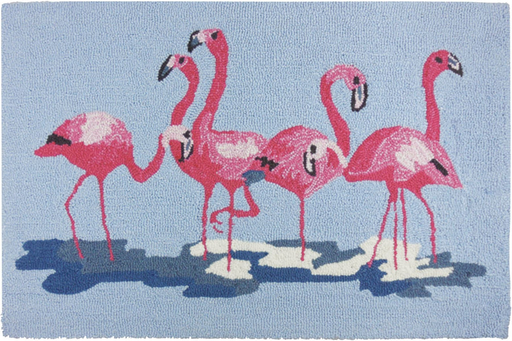Flock of Flamingos Accent Rug - Premier Home & Gifts