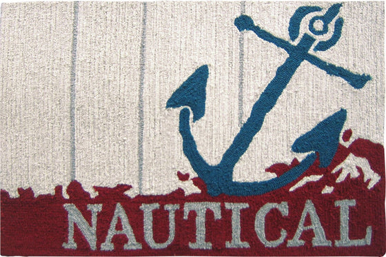 Nautical Anchor Accent Rug - Premier Home & Gifts