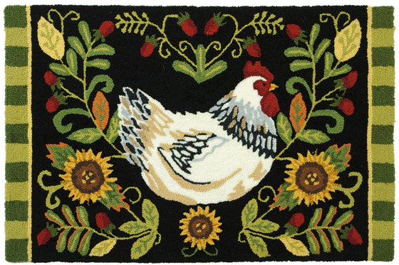 Leghorn Chicken Accent Rug - Premier Home & Gifts