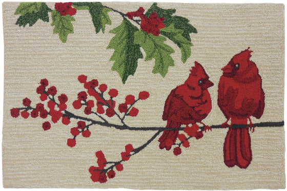 Cardinals on Winter Branch Accent Rug | Premier Home & Gifts