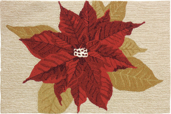 Holiday Poinsettia Accent Rug - Premier Home & Gifts