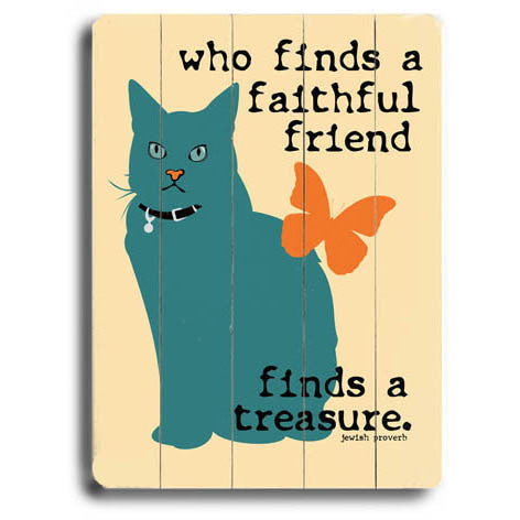 Faithful Friend Wood Sign