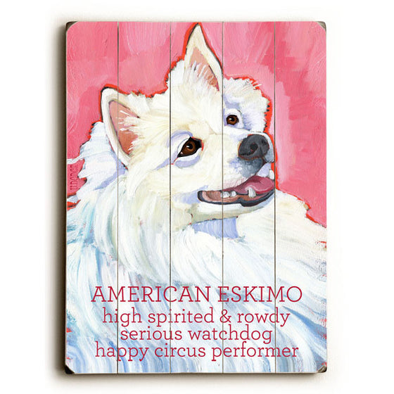 American Eskimo Wood Sign - Premier Home & Gifts