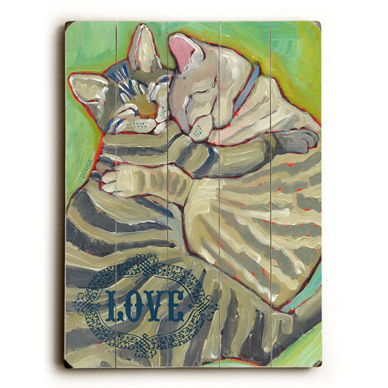 Kitty Cuddle Wood Sign